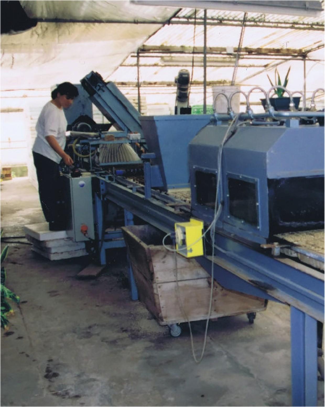 Primera máquina de siembra, 1989